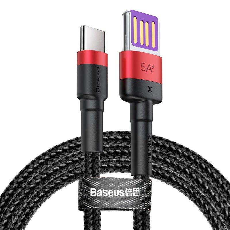 Cablu de date Type-C Baseus Cafule HW Quick Charging 40w/100cm -CATKLF-P91- Red/Black