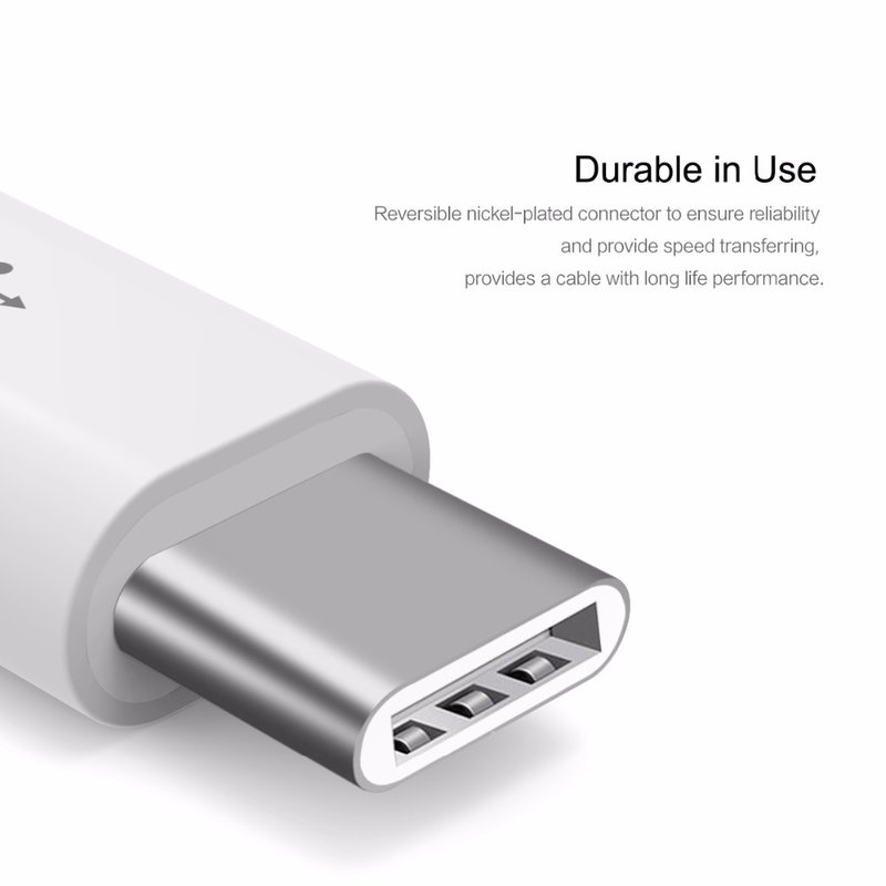 Adaptor Rock Micro-USB to Type-C 2.0A - RCB0441 - White