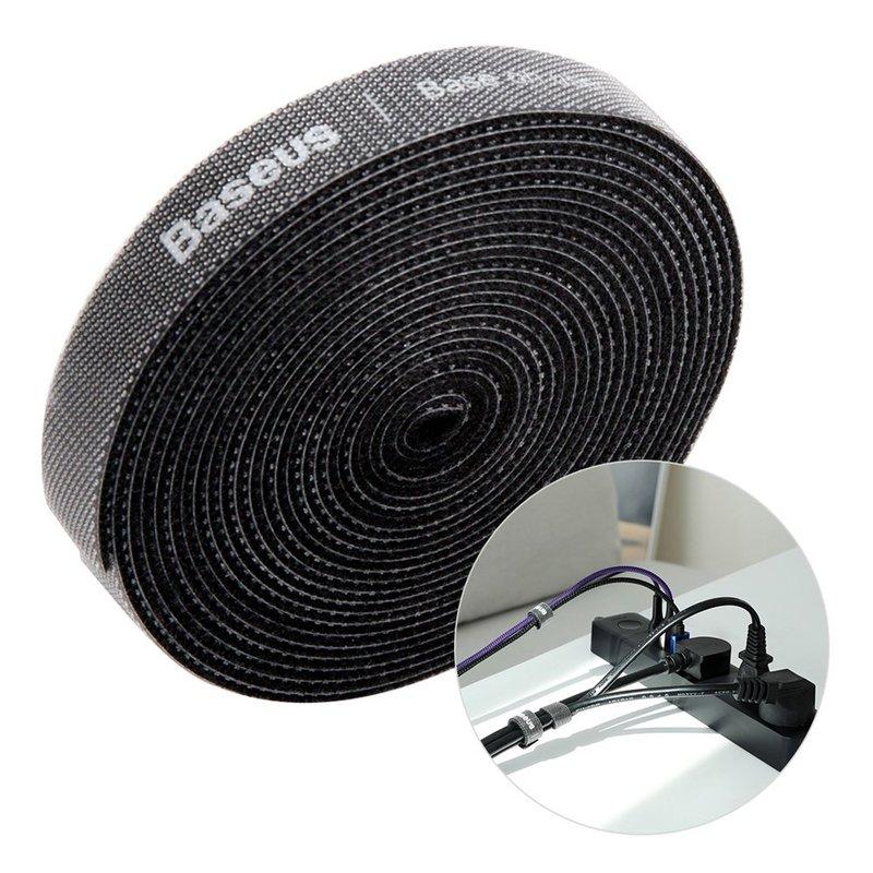Organizator cabluri / Velcro Baseus Rainbow Circle 300cm -ACMGT-F01- Black