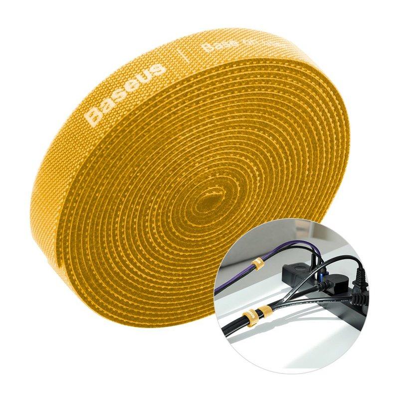 Organizator cabluri / Velcro Baseus Rainbow Circle 300cm -ACMGT-F0Y- Yellow