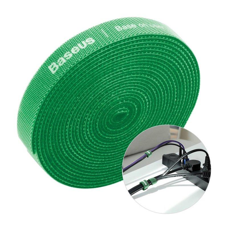 Organizator cabluri / Velcro Baseus Rainbow Circle 300cm -ACMGT-F06- Green
