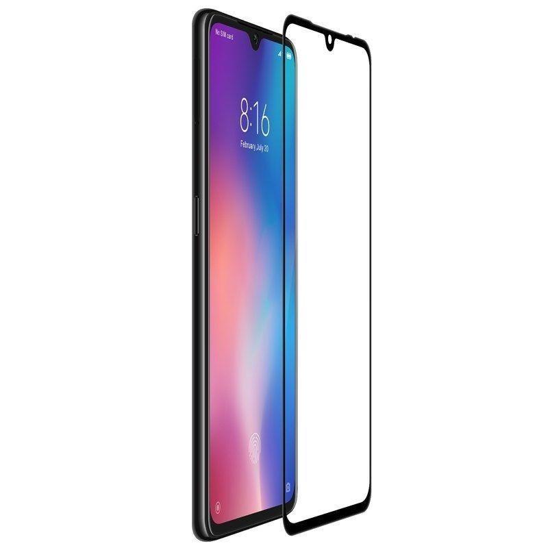 Folie Protectie Xiaomi Mi 9 Spigen Glas.TR FullCover Cu Rama - Negru