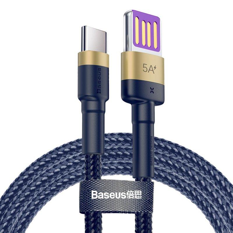 Cablu de date Type-C Baseus Cafule HW Quick Charging 40W - CATKLF-PV3 - Gold/Blue