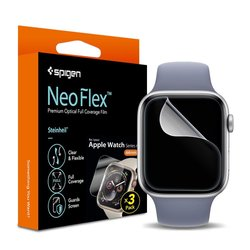 [Pachet 3x] Folie protectie Apple Watch 4, 40mm Spigen Neo Flex - Clear