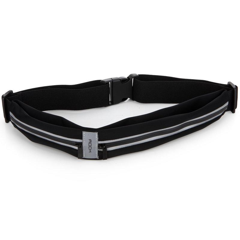 Borseta Alergare Smartphone Rock Sports Waist Bag - Negru