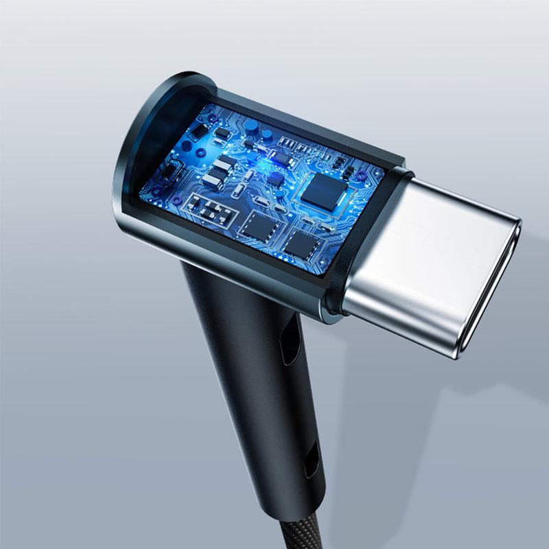 Cablu de date Rock USB to Type-C Metal Standing 1.2M - RCB0655 - Black