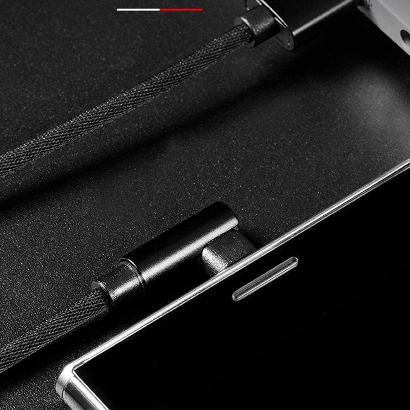 Cablu de date USB to Type-C Rock L-shape Metal Charge&Sync - RCB0602 - Black