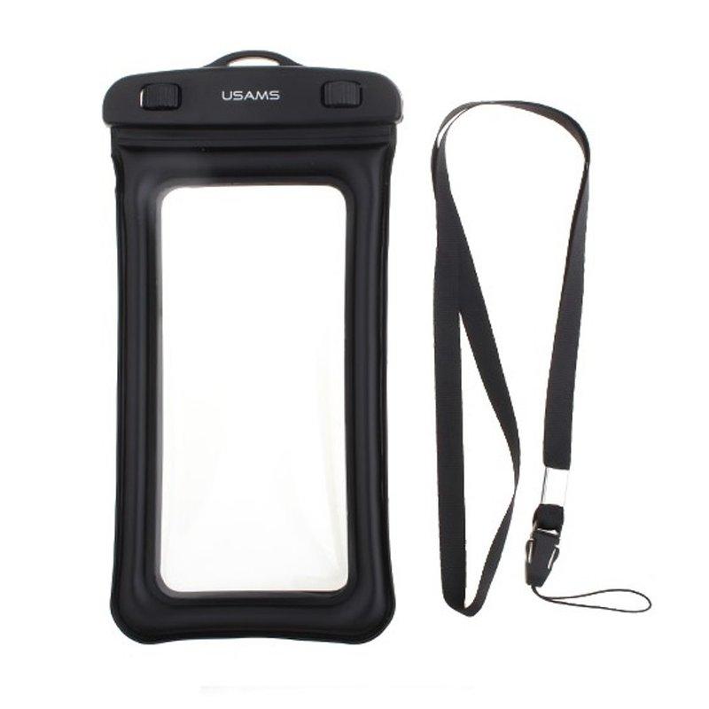Husa Subacvatica Pentru Telefon USAMS Waterproof Bag - US-YD007  - Black