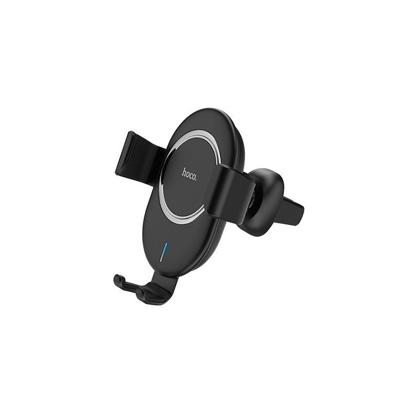 Suport Auto Cu Functie De Incarcare Wireless Hoco CW17 Fast Charger - Black