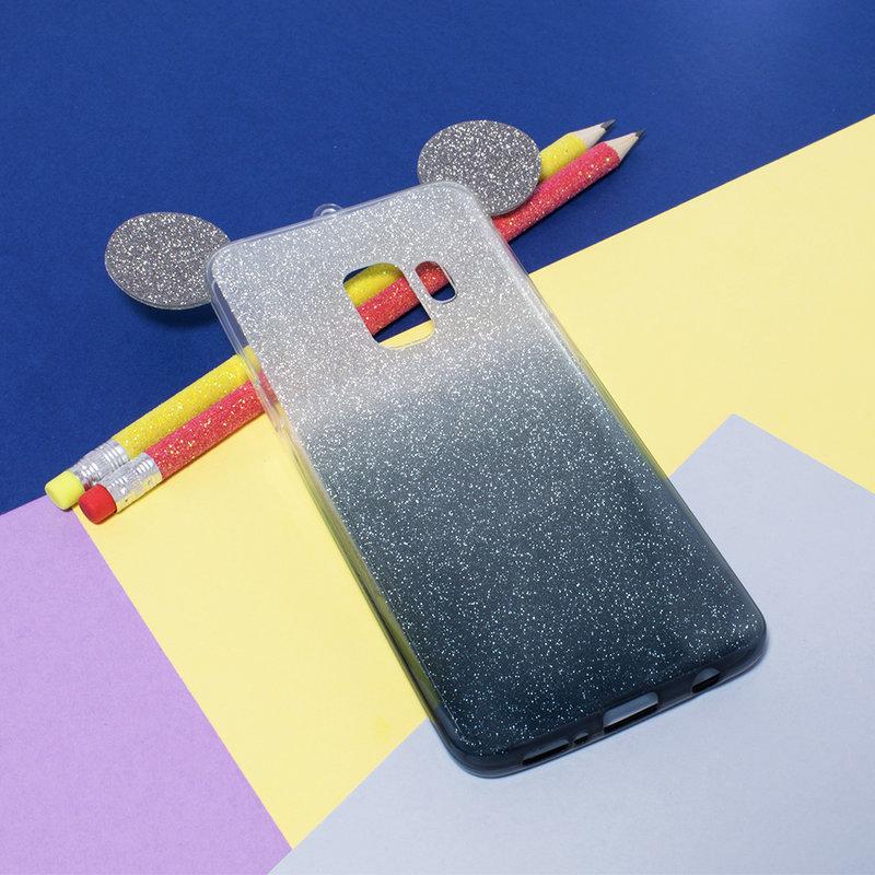 Husa Samsung Galaxy S9 Gradient Color TPU Mouse Bling Glitter - Negru