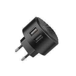 Incarcator Priza Hoco C67A Travel Charge Intelligent Balance Dual-USB 2.4A - Black