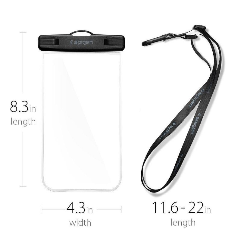 Husa Subacvatica Pentru Telefon Waterproof cu Inchidere Etansa Spigen A600 Universal - Black