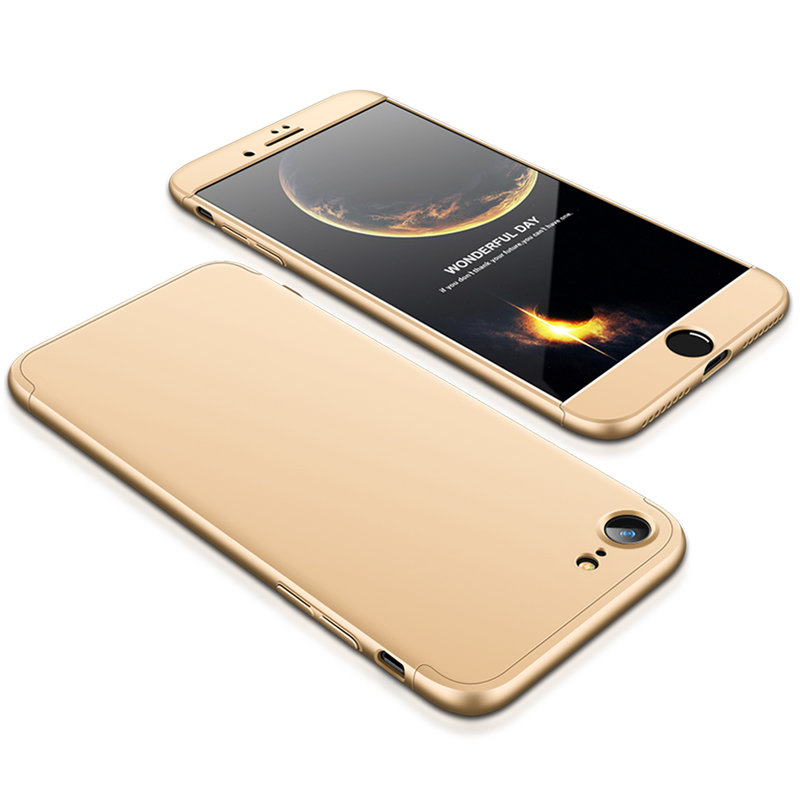 Husa Apple iPhone 7 GKK 360 Full Cover Auriu