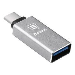 Adaptor USB To Type-C Baseus Sharp 3.0A - CATYPEC-AD0G - Dark Gray
