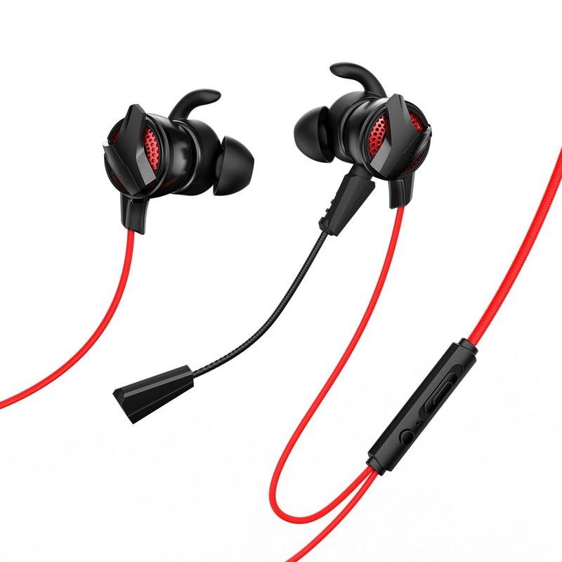 Casti In-Ear Cu Microfon Baseus Gamo H15 Mini Jack Headset - NGH15-91 - Red