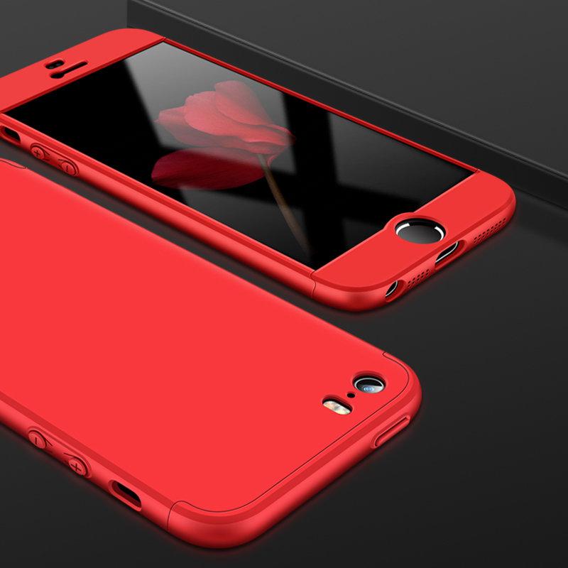 Husa iPhone 5 / 5s / SE GKK 360 Full Cover Rosu