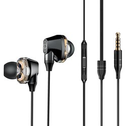Casti In-Ear Cu Microfon Baseus Encok H10 Wired with Dual Moving-coil - NGH10-01 - Black