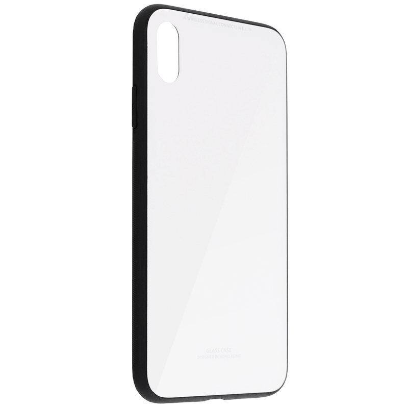Husa iPhone XS Max Glass Series - Alb