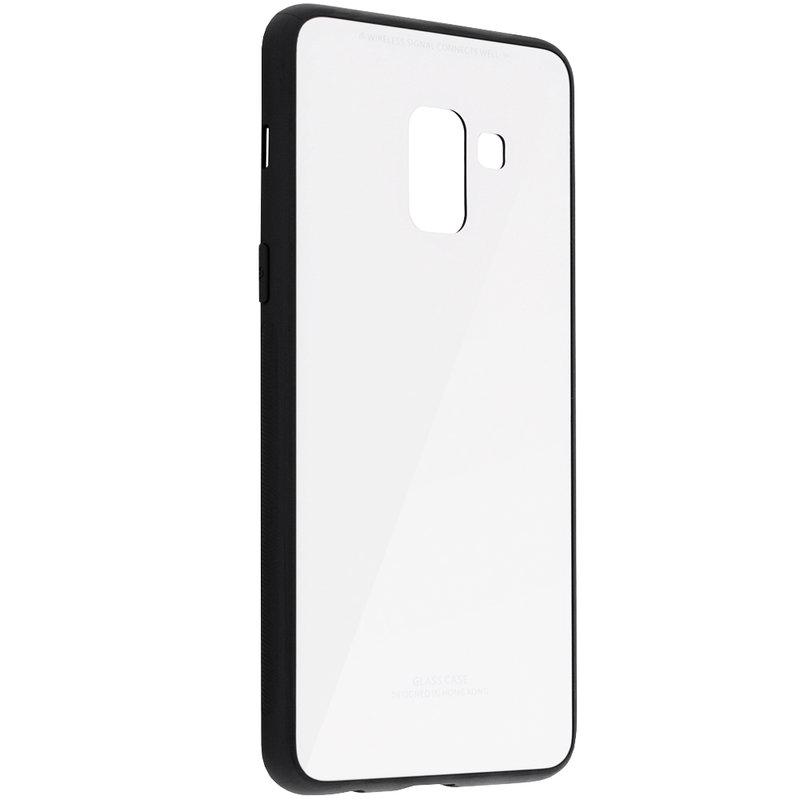 Husa Samsung Galaxy A8 2018 A530 Glass Series - Alb