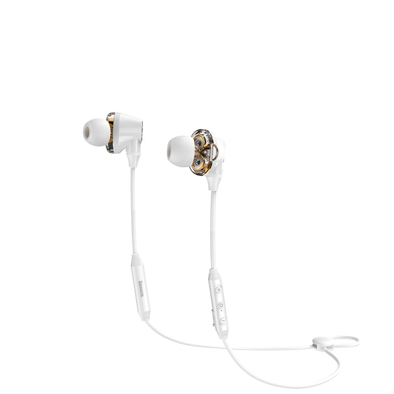 Casti In-Ear Wireless Baseus Encok S10 Bluetooth with Dual Moving-coil - NGS10-02 - White