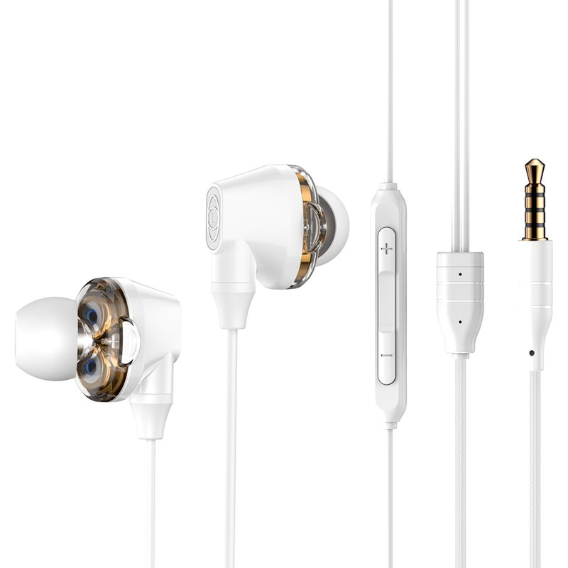 Casti In-Ear Cu Microfon Baseus Encok H10 Wired with Dual Moving-coil - NGH10-02 - White
