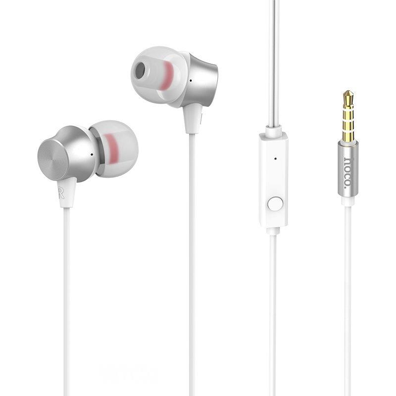 Casti In-Ear Cu Microfon Hoco M51 Proper Sound - Alb