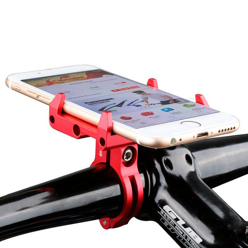 Suport Bicicleta Gub G85 Din Metal Cu Prindere De Ghidon Pentru Telefoane - Red