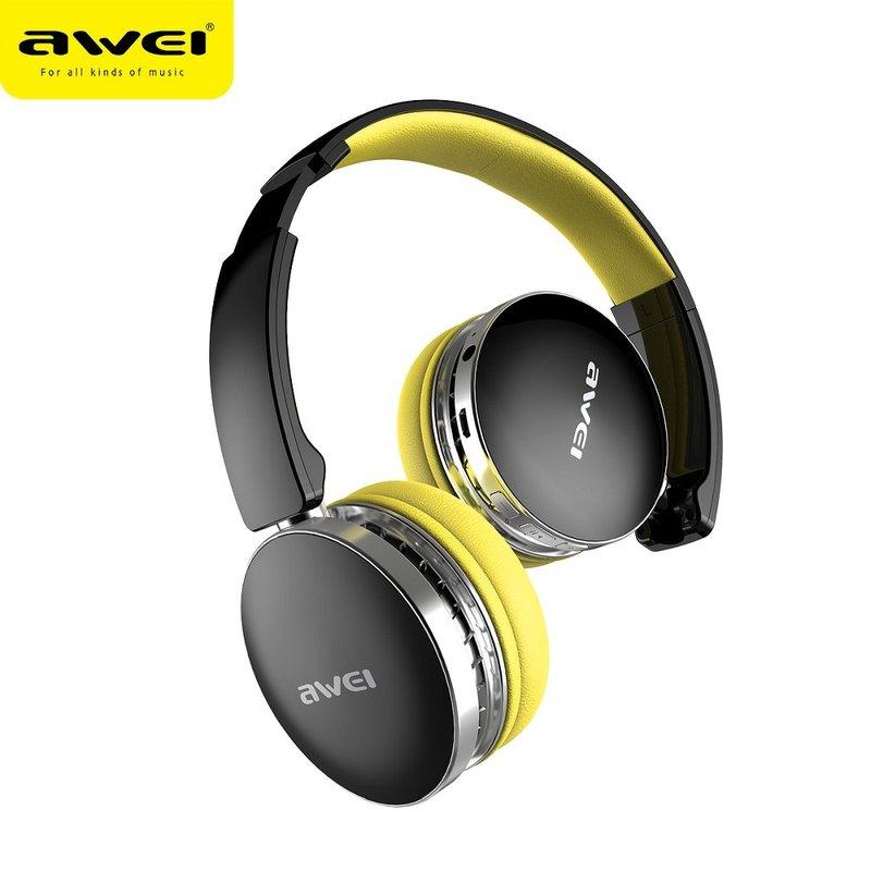 Casti On-Ear Wireless Awei A500BL Foldable Hi-Fi Stereo Bluetooth 4.0 - Yellow