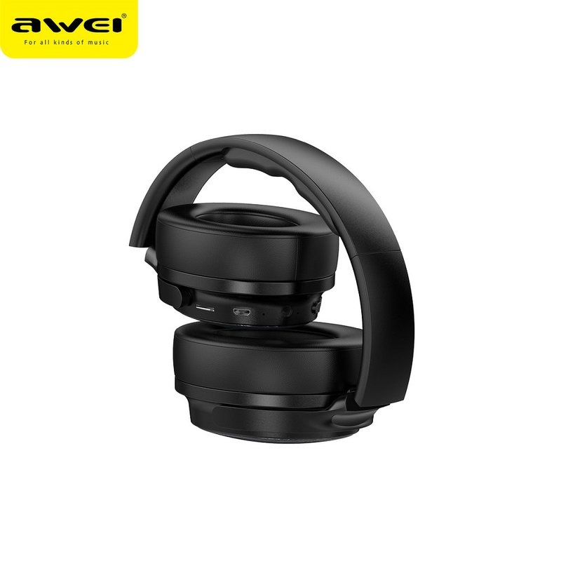 Casti On-Ear Wireless Awei A780BL Cuffie Stereo Headphone Bluetooth V5.0 - Black