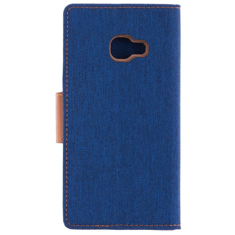 Husa Samsung Galaxy Xcover 4s Canvas Book Albastru