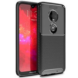 Husa Motorola Moto G7 Plus Mobster Carbon Skin Negru