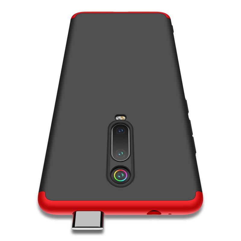 Husa Xiaomi Mi 9T Pro GKK 360 Full Cover Negru-Rosu