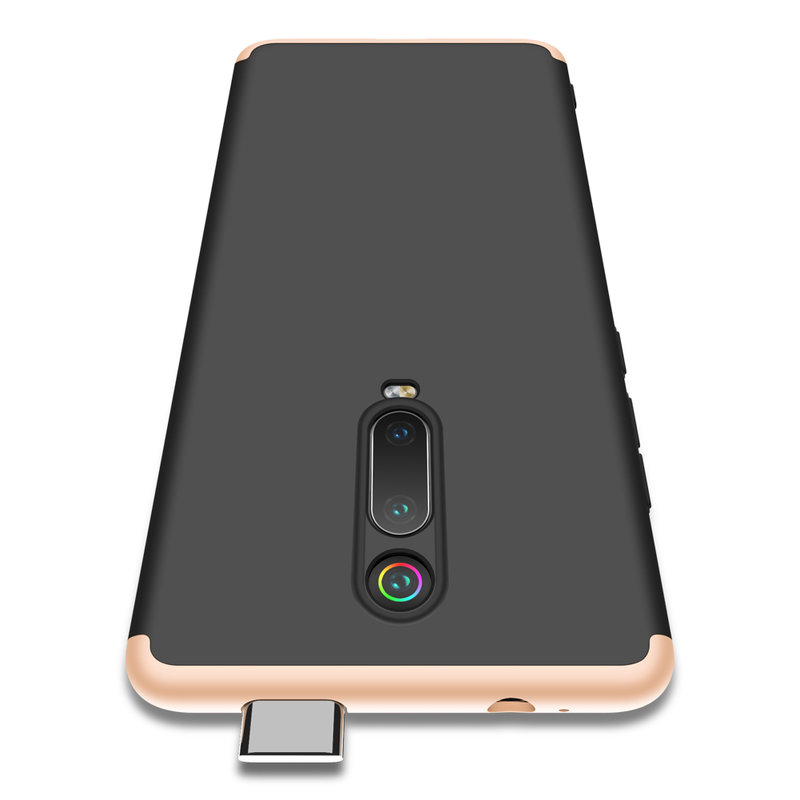 Husa Xiaomi Mi 9T Pro GKK 360 Full Cover Negru-Auriu