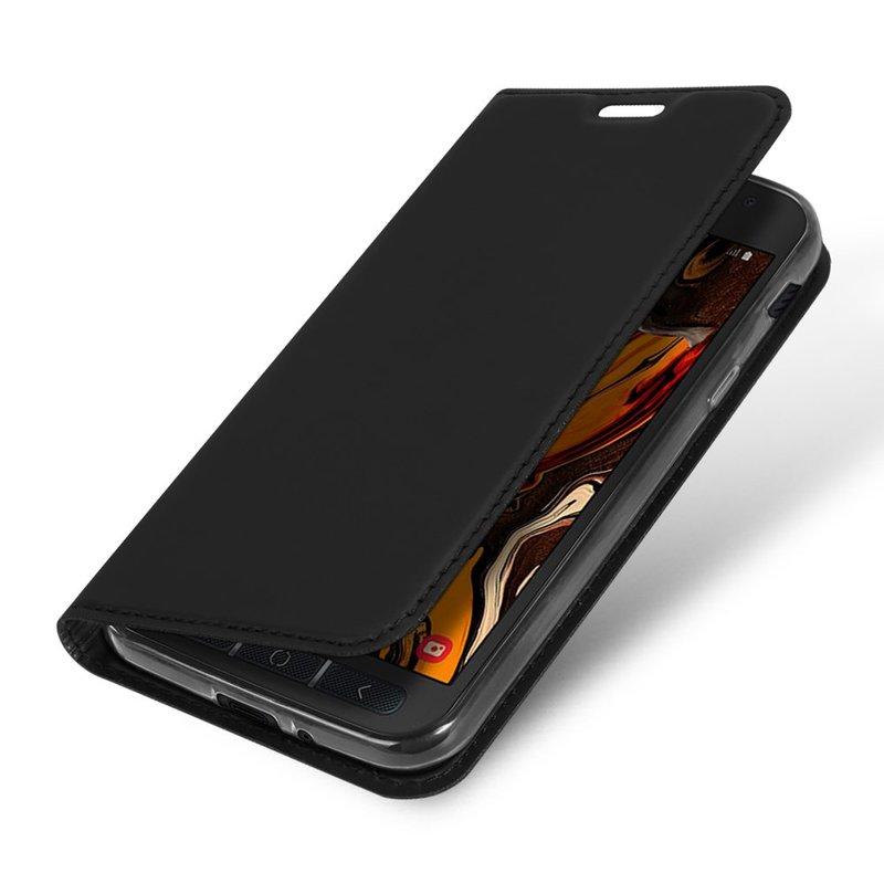 Husa Samsung Galaxy Xcover 4s Dux Ducis Flip Stand Book - Negru