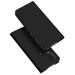 Husa Motorola One Vision Dux Ducis Flip Stand Book - Negru