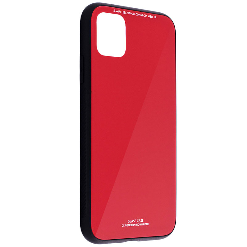 Husa iPhone 11 Glass Series - Rosu