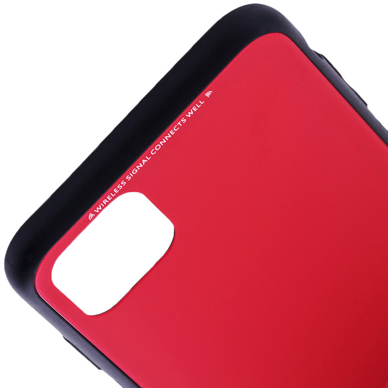 Husa iPhone 11 Pro Max Glass Series - Rosu