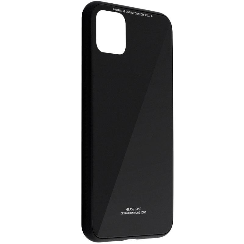 Husa iPhone 11 Pro Max Glass Series - Negru