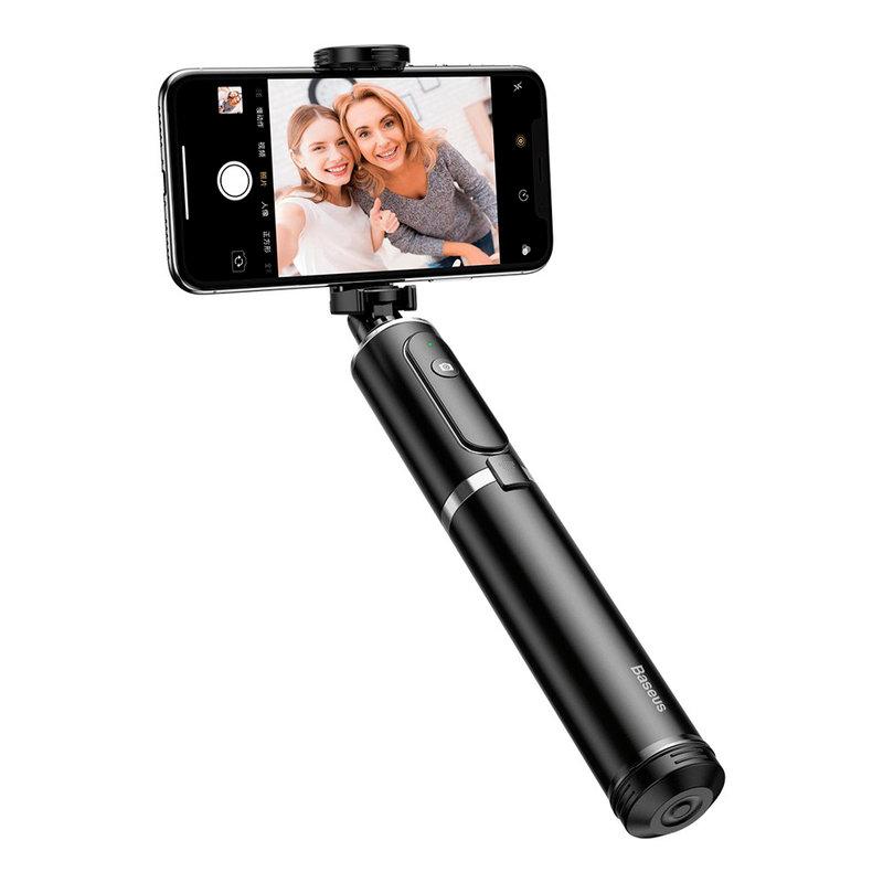 Suport Selfie Stick Baseus + Tripod Telescopic Stand Bluetooth - SUDYZP-D1S - Silver