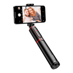 Suport Selfie Stick Baseus + Tripod Telescopic Stand Bluetooth - SUDYZP-D19 - Red