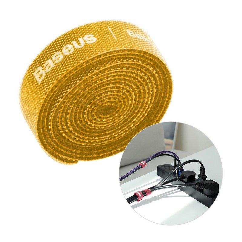 Organizator cabluri / Velcro Baseus Rainbow Circle 100cm -ACMGT-E0Y- Yellow