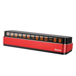 Numar de telefon Baseus pentru Parbriz Auto - ACNUM-B09 - Rosu