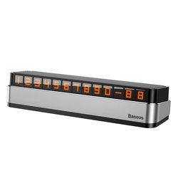Numar de telefon Baseus pentru Parbriz Auto - ACNUM-B0S - Argintiu