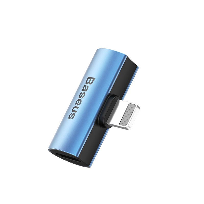 Convertor Audio Baseus L46 Adapter from Lightning to 2x Lightning - CAL46-S1 - Blue/Black