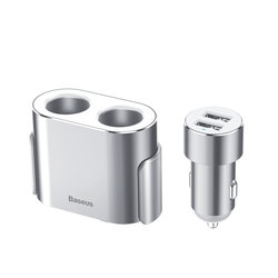 Incarcator Auto Baseus High Efficiency One/Two Cigarette Lighter - CRDYQ-0S - Silver
