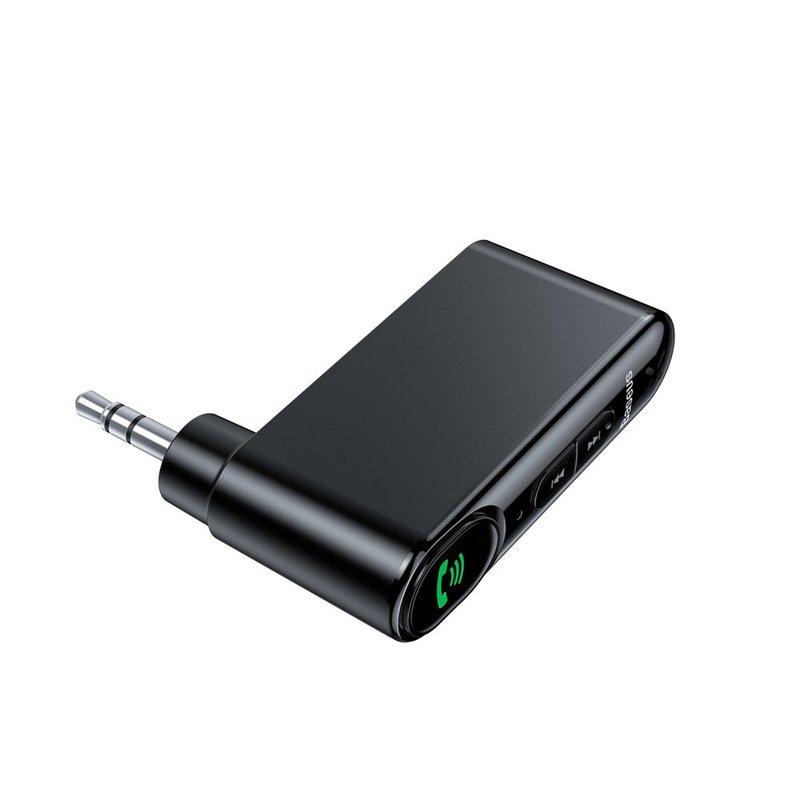 Receptor Wireless Baseus Bluetooth Audio Type 7 AUX Car - WXQY-01 - Black