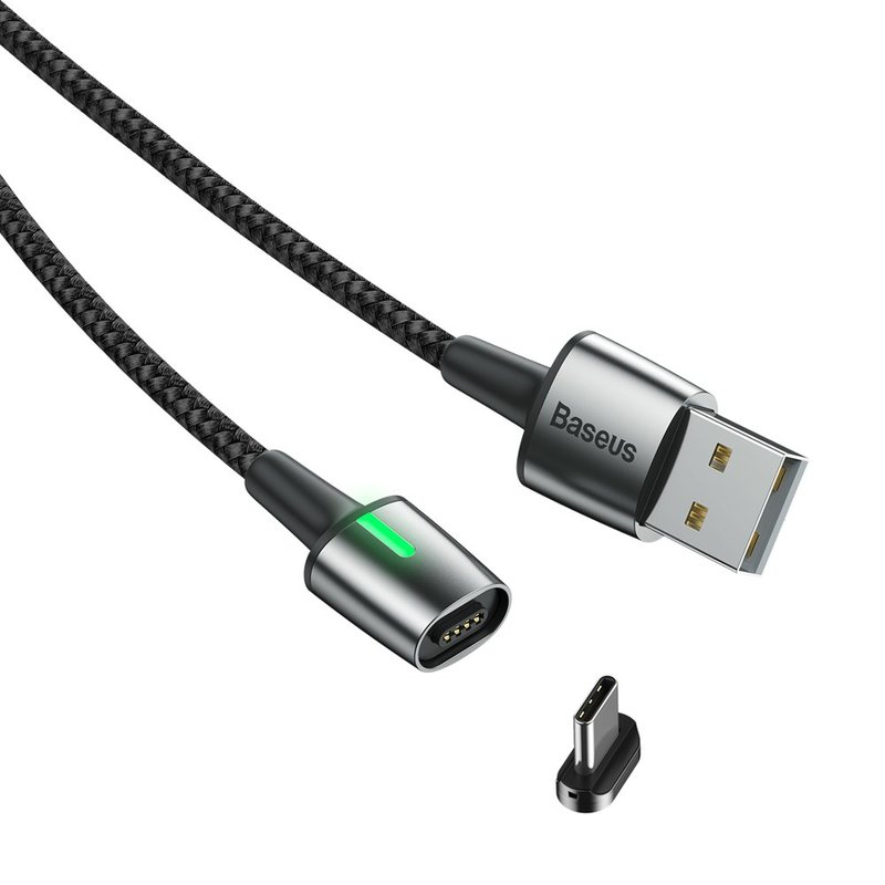 Cablu De Date Baseus Zinc Magnetic USB For Type-C 2A 2M - CATXC-B01 - Black