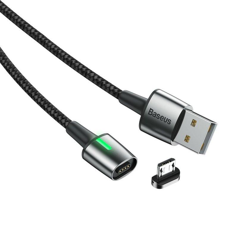 Cablu De Date Baseus Zinc Magnetic USB For Micro-USB 2.4A 1M - CAMXC-A01 - Black