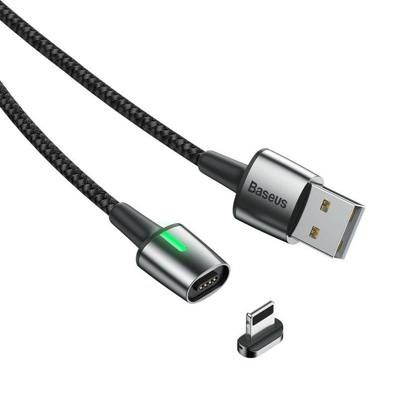 Cablu De Date Baseus Zinc Magnetic USB For Lightning 2.4A 1M - CALXC-A01 - Black