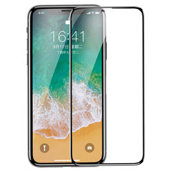 Folie Sticla Curbata iPhone XS Baseus Anti-Bluelight Pet Soft - SGAPIPHX-KB01- Clear